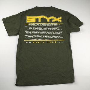 Delta Shirts - Styx Man Of Miracles World Tour Concert Graphic T
